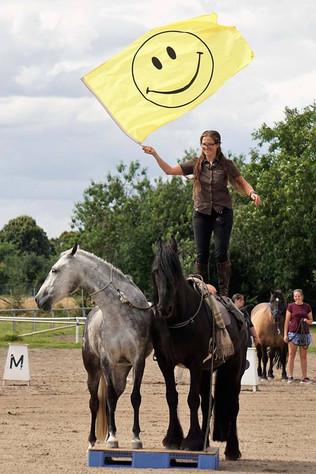 Vorführung beim Tag des Pferdes in Wieblingen mit Atse und Fabiola