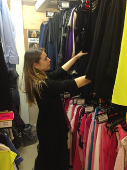 Sorting through the running wardrobe