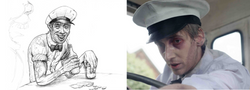Concept art and production still