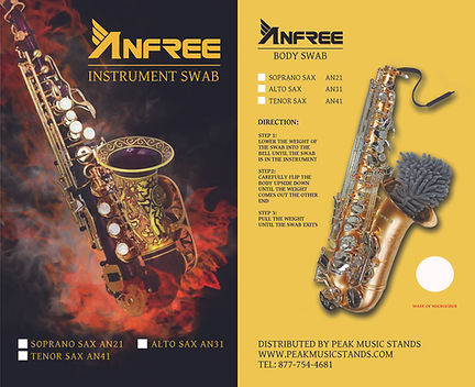 ANFREE Saxophone Body Swabs at The Wedge Distribution