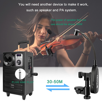 KM-CX220-3 Violin Microphone at The WedgeDistributon 3