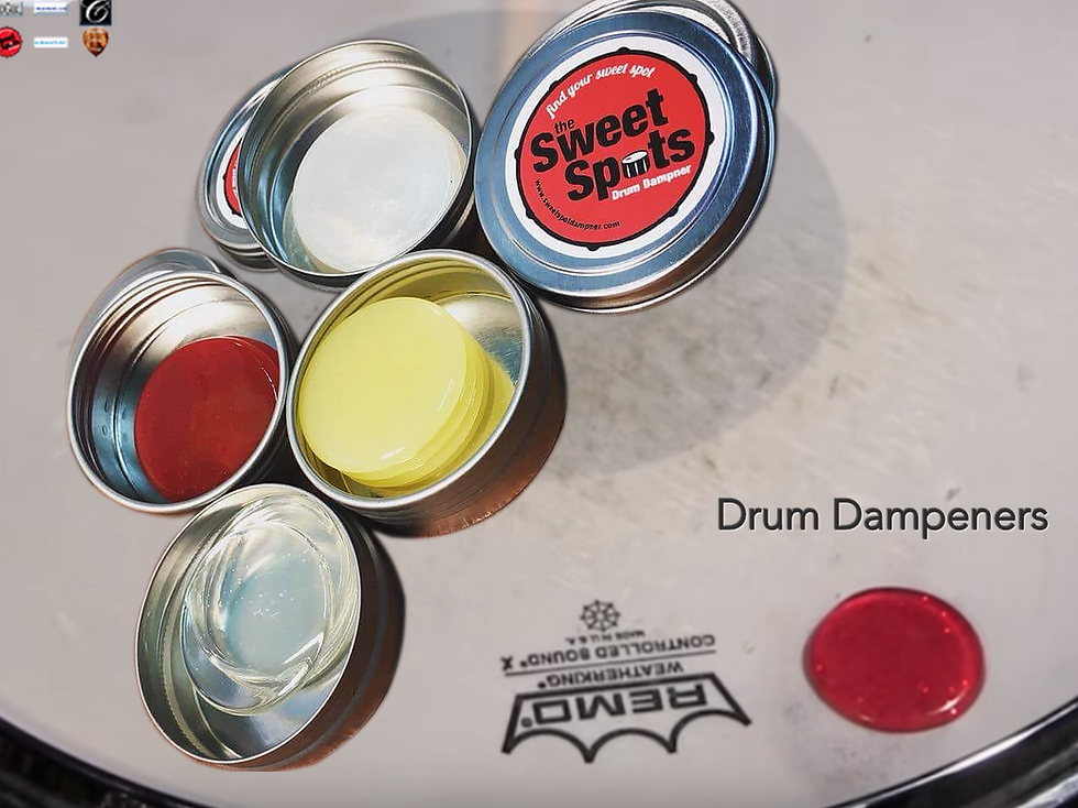 Sweet Spots Drum Dampeners at The Wedge Distribution