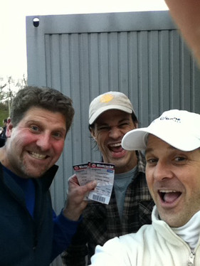 We got 'em! Scalped tickets to the Frankfurt Pro Soccer Game after Music Messe Frankfurt.