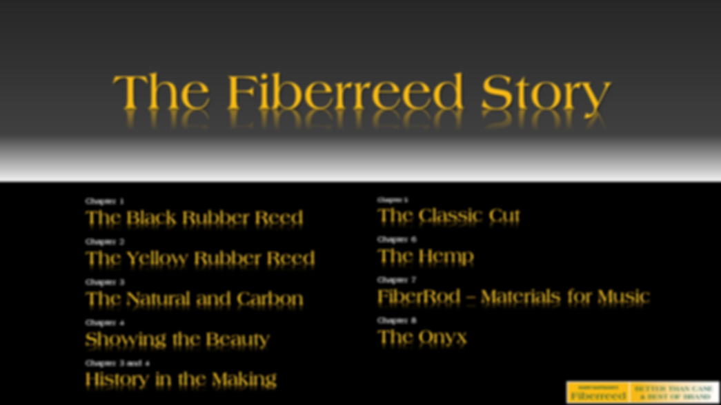 Fiberreed - Better than Cane & Best of Brand! World's best reeds for clarinet and saxophone.