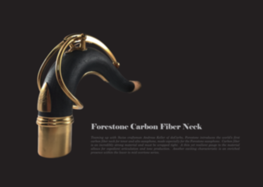Forestone Carbon Saxophone Neck from Japan at The Wedge Distribution.