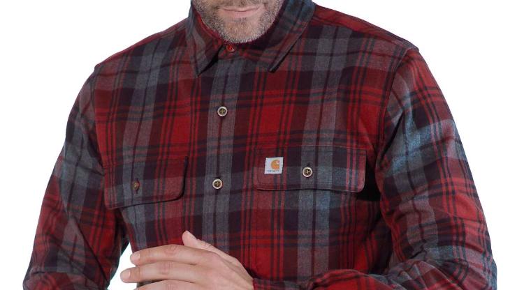 Workwear: Skjorte med mønster og lomme