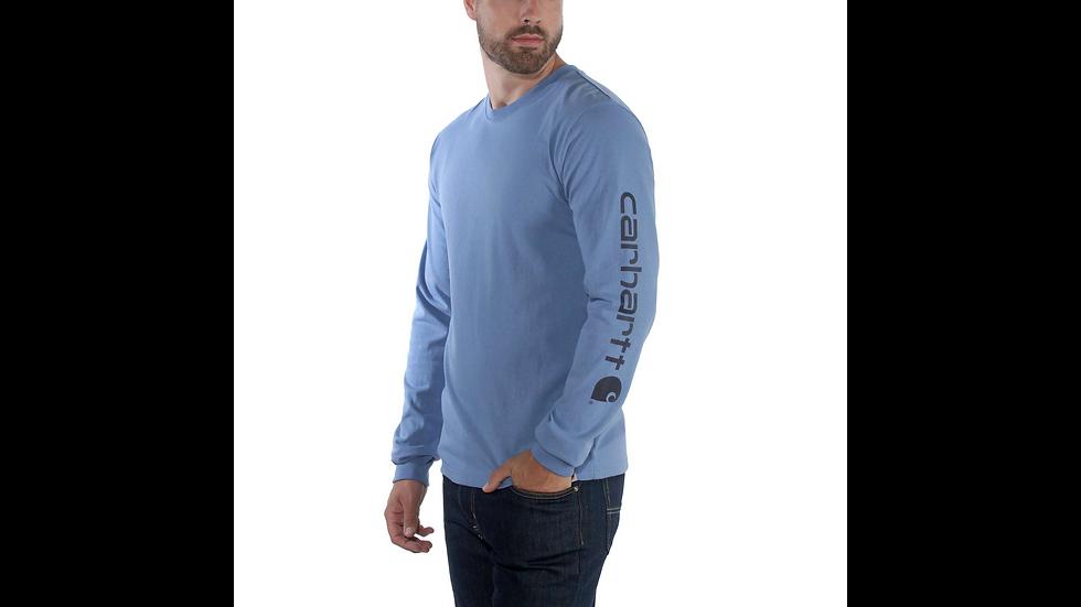 Langermet trøye med logo langs venstre arm.