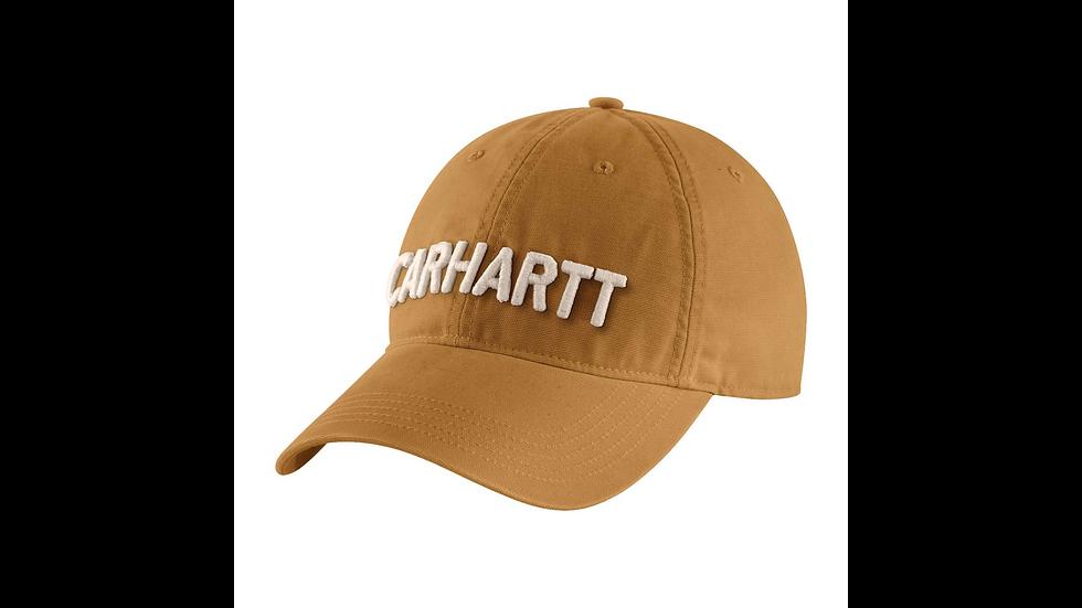 Lysebrun caps med brodert logo