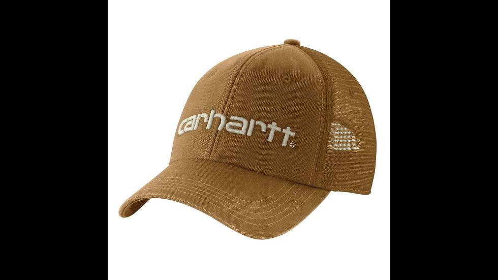 Brun caps med brodert logo og netting bak
