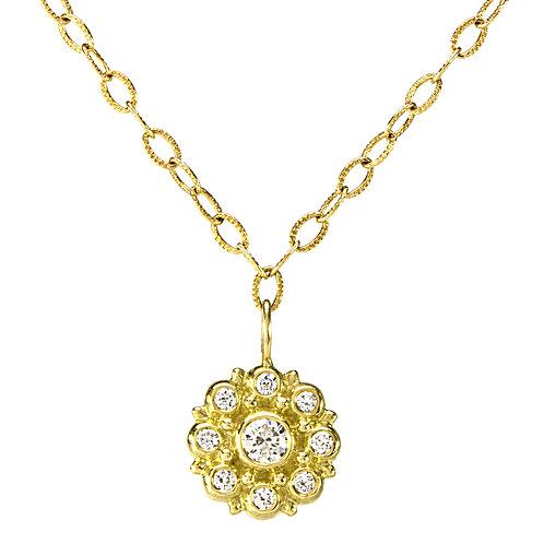 18k & Diamond Beady Blossom Necklace