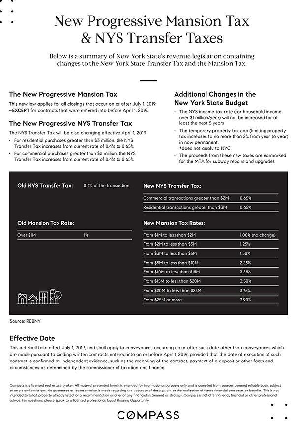 New Progressive Mansion Tax and NYS Tran