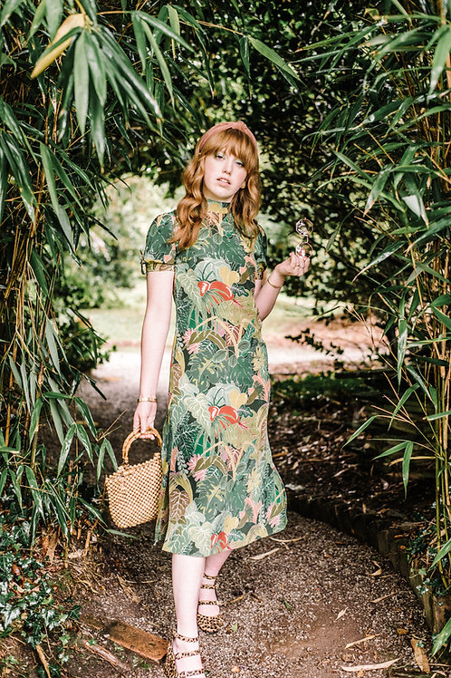 Holly Dress in Serendipity Jungle Green