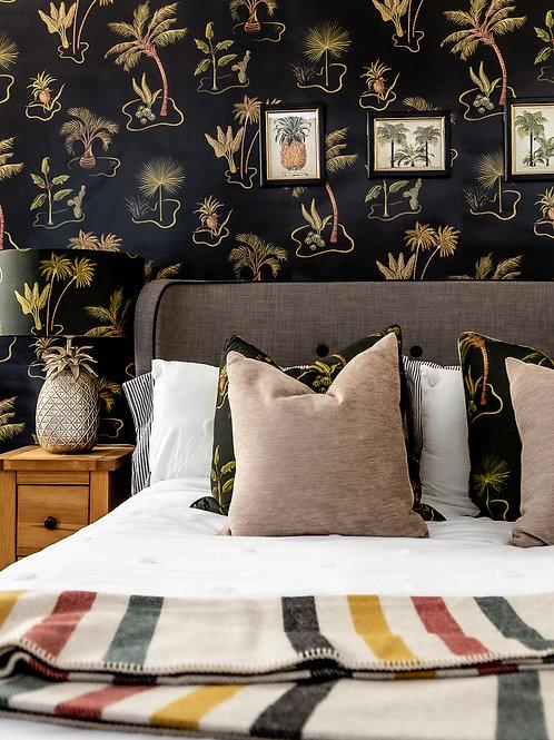 Solitude Wallpaper in Charcoal-Black