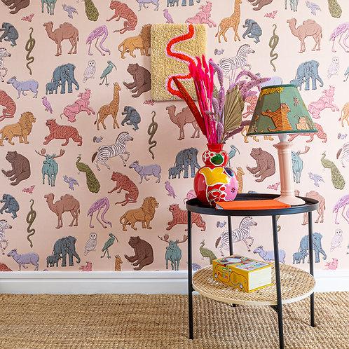 Assemble Wallpaper in Pastel-Pink