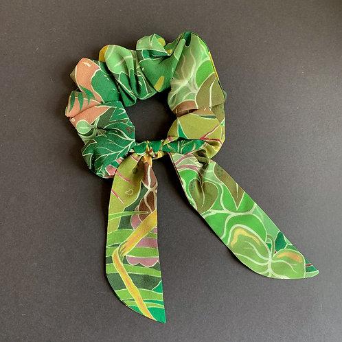Flora Scrunchie  in Serendipity Jungle-Green