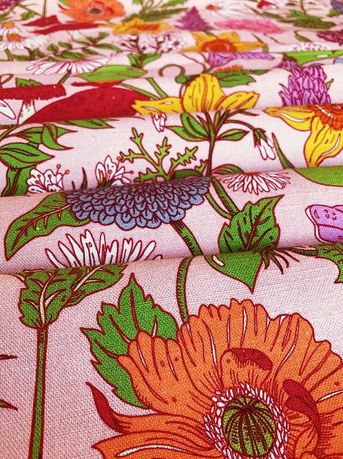Cotton-Linen in Bloom Flamingo-Pink