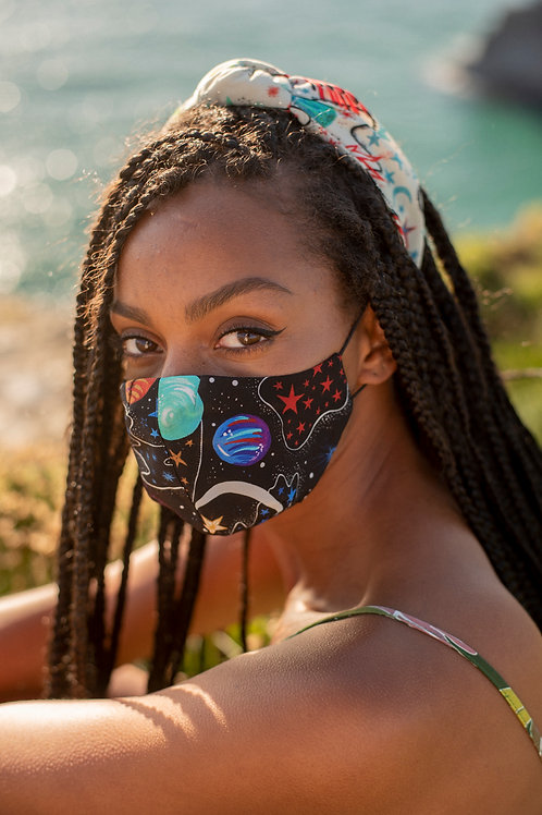 Face Mask in Zion Infinity-Black