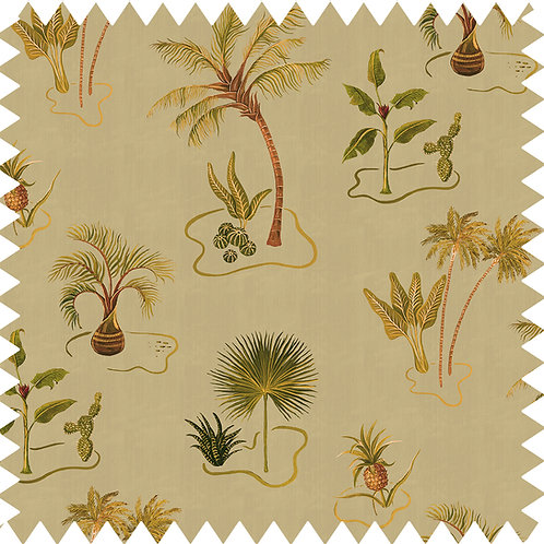 Cotton-Linen Fabric Sample in Solitude Sand A5