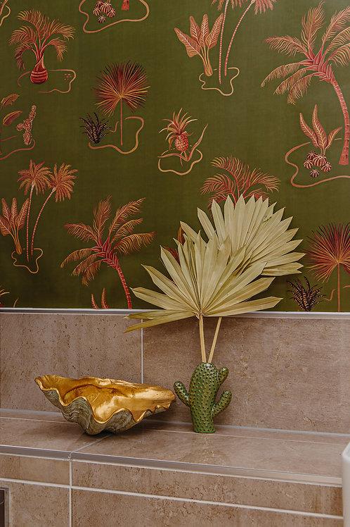 Solitude Wallpaper in Olive-Green