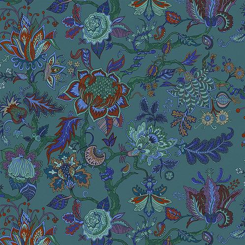 Eden Lagoon-Blue Wallpaper Sample A3