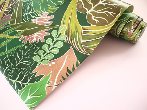 Serendipity Wallpaper in Jungle-Green