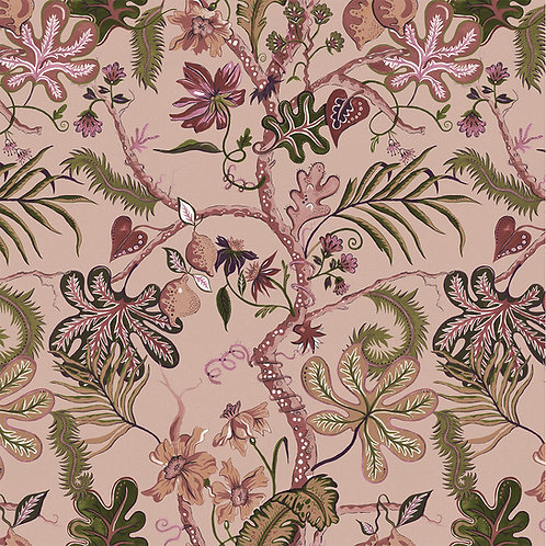 Ophelia Blush-Pink Wallpaper Sample A3