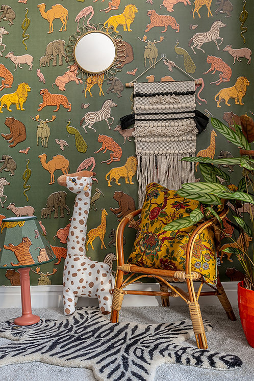 Assemble Wallpaper in Khaki-Green