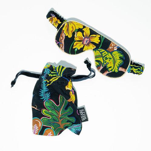 Silk Sleep Mask in Ophelia French-Navy