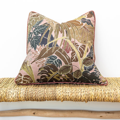 Medium Reversible Linen Cushion in Serendipity & Bubastis