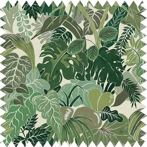 Cotton-linen Fabric Sample in Serendipity Jade-Green A5