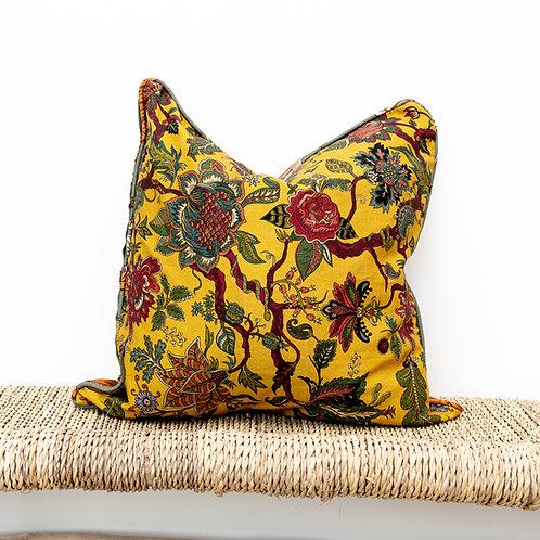 Medium Reversible Linen Cushion in Eden & Assemble