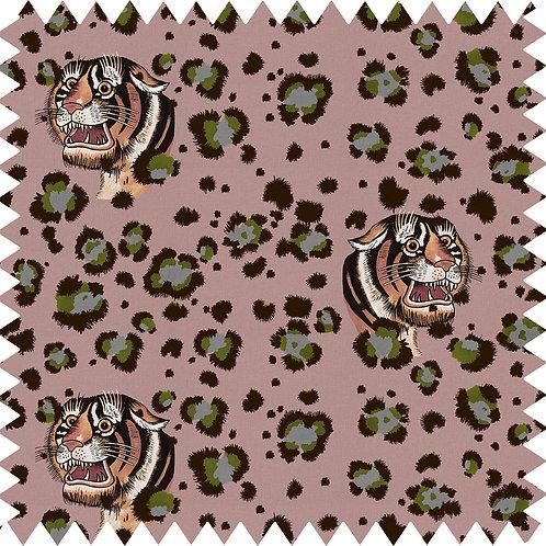 Cotton-Linen Fabric Sample in Bubastis Blush A5