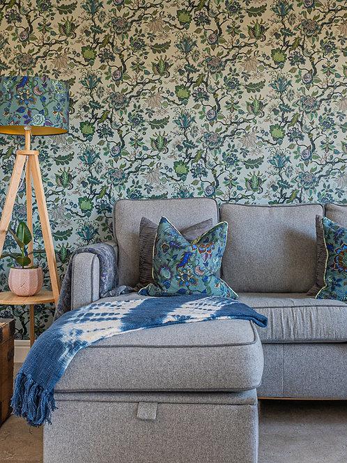 Eden Wallpaper in Topaz-Blue