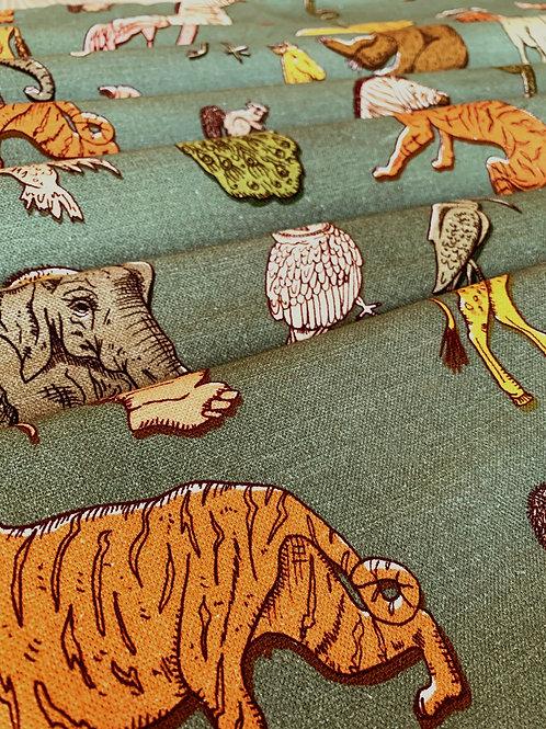 Cotton-Linen in Assemble Khaki
