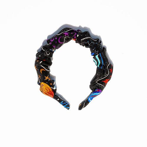 Sienna Scrunchie Hair-band in Zion Infinity-Black
