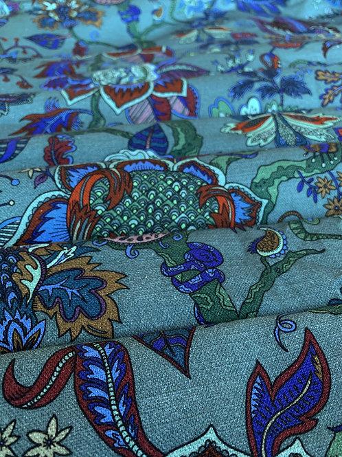 Cotton-Linen in Eden Lagoon-Blue