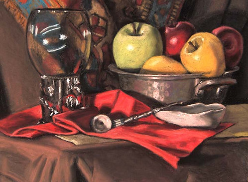 Fruit Bowl with Pipe