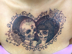 Chest tattoo by Heather Pilapil