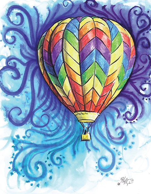 """Limited Edition Print of """"Balloon Painting"""""""