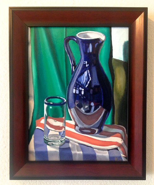 Still-Life with Blue Pitcher