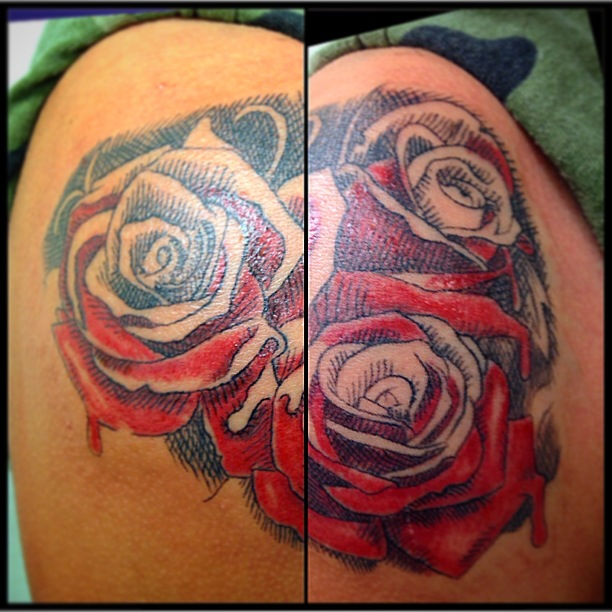 Roses tattoo by Heather Pilapil