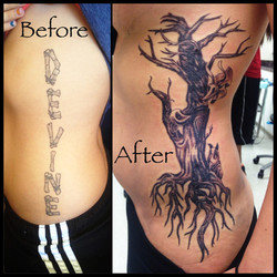 Coverup tattoo by Heather Pilapil