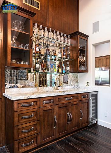Custom Bar in Lounge Remodel