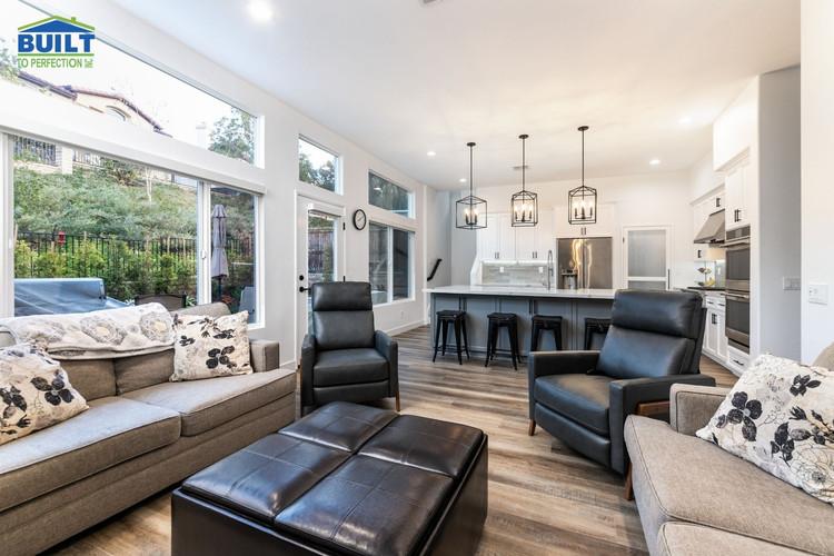 Custom Home Living Space