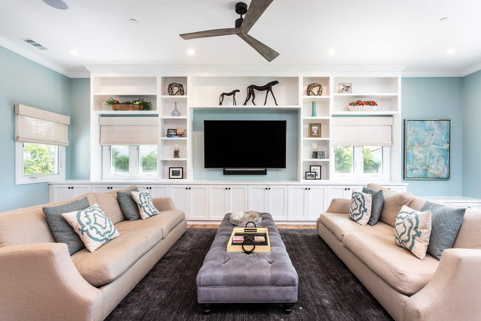 Custom Home Living Room Remodel