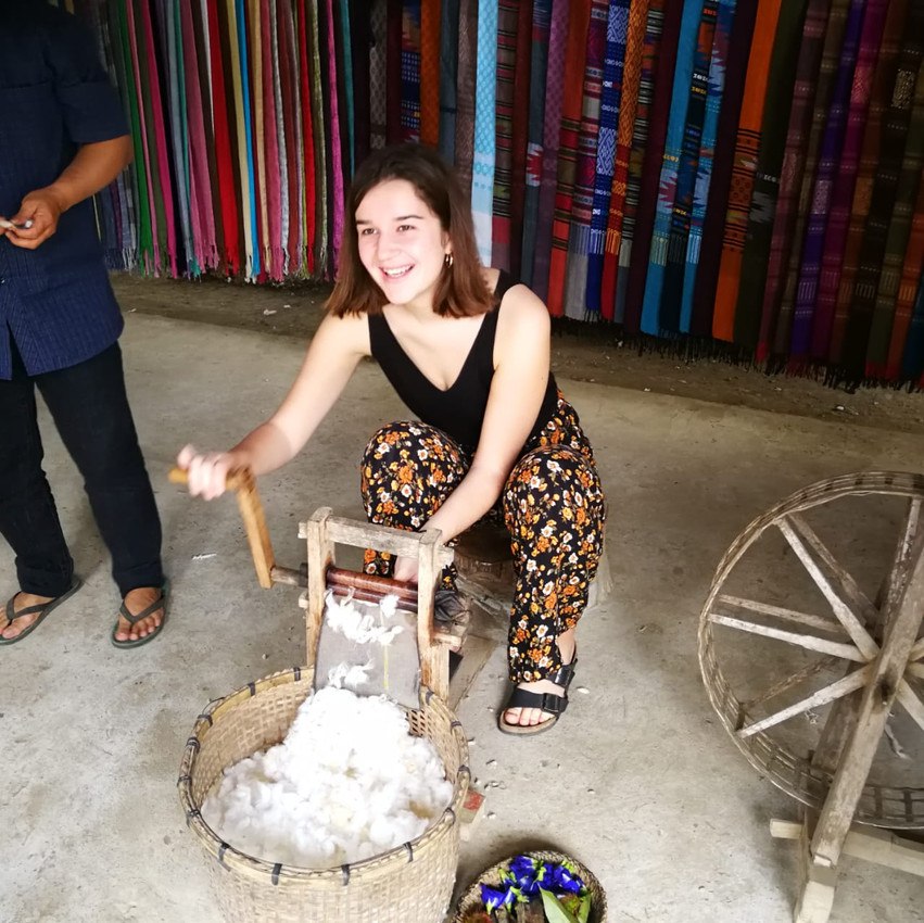 banlue handicraft, nongkhiaw, family trip, family travel, laos with family, travel with kids, laos with children, activity suitable for kids, workshop for kids, workshop for teenagers