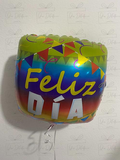 """Globo """"Feliz Día"""" (Diseños variados)"""
