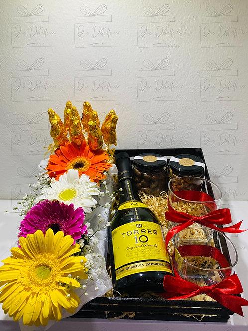 Canasta Brandy Torres 10  y Flores