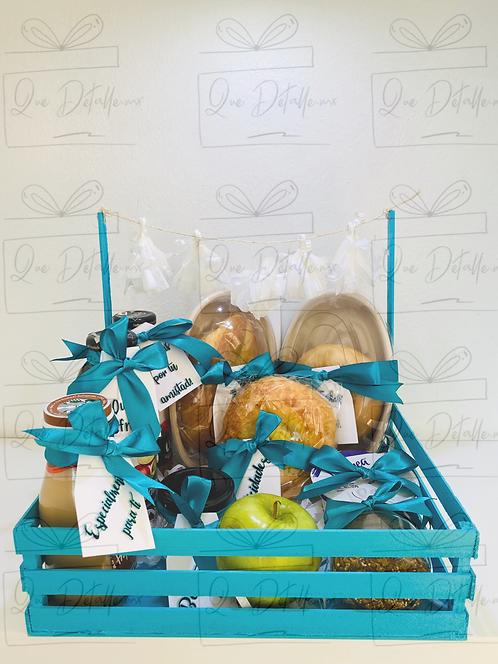Desayuno Doble en color azul