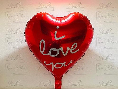 """Globo Corazón """"I Love you"""" color Rojo"""